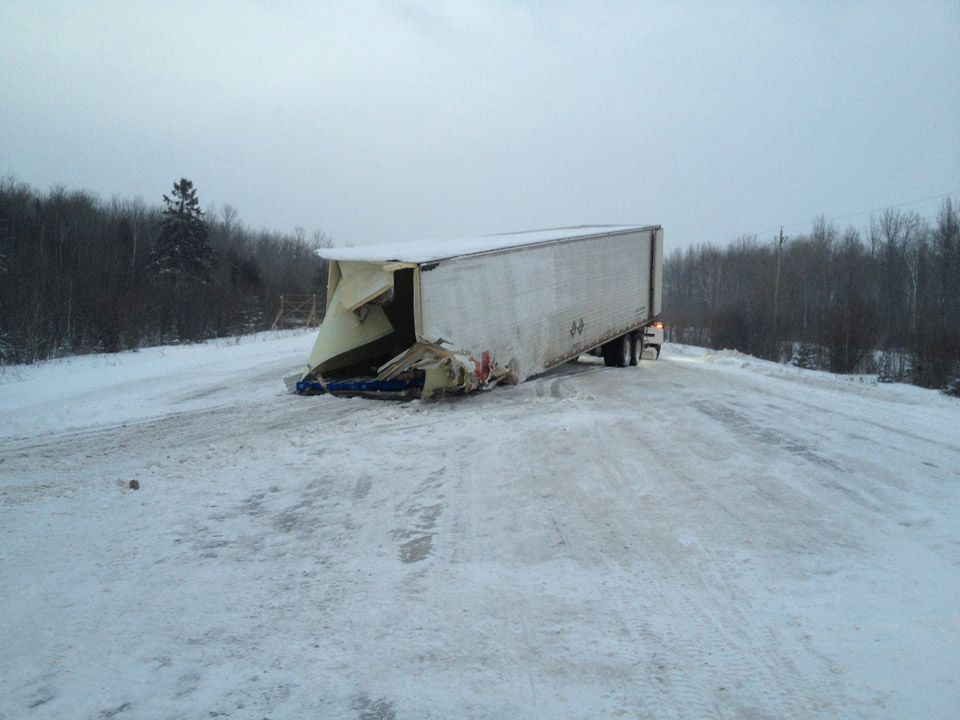Single truck accident